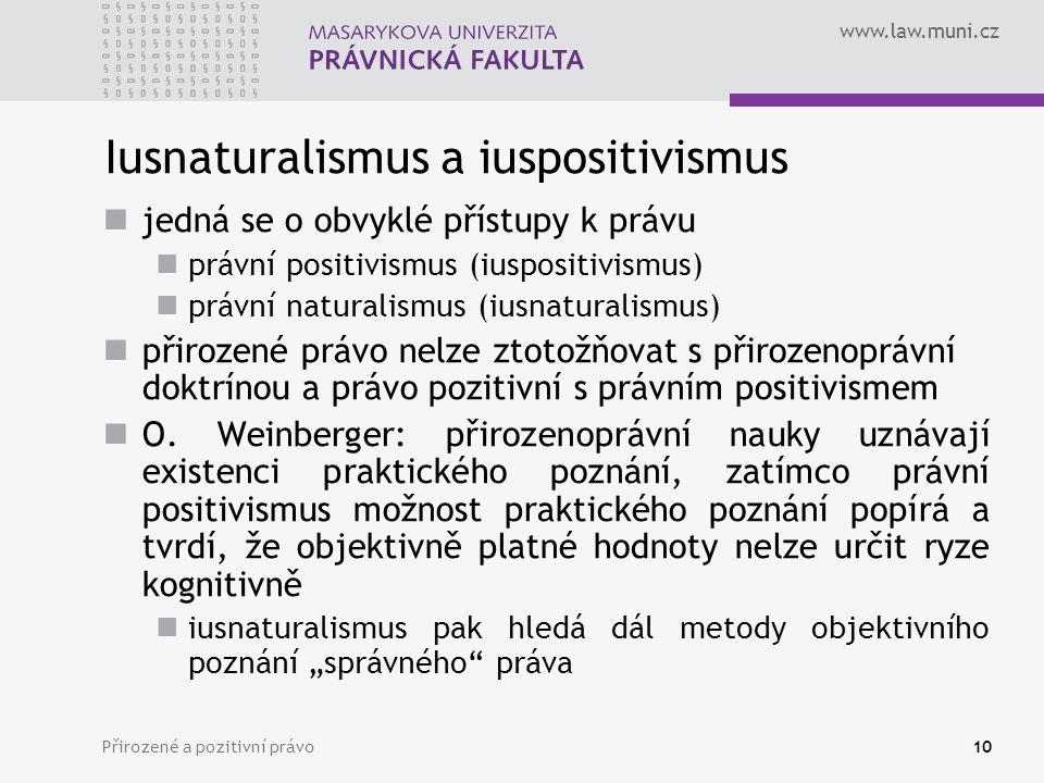 Iusnaturalismus a iuspositivismus