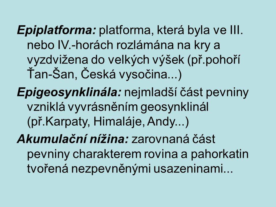 Epiplatforma: platforma, která byla ve III. nebo IV