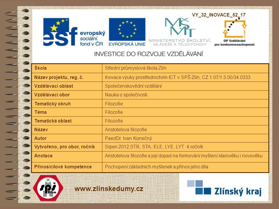 www.zlinskedumy.cz VY_32_INOVACE_52_17 Škola