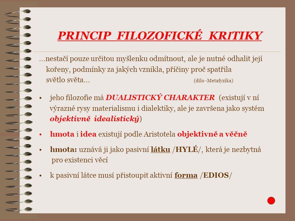 PRINCIP FILOZOFICKÉ KRITIKY