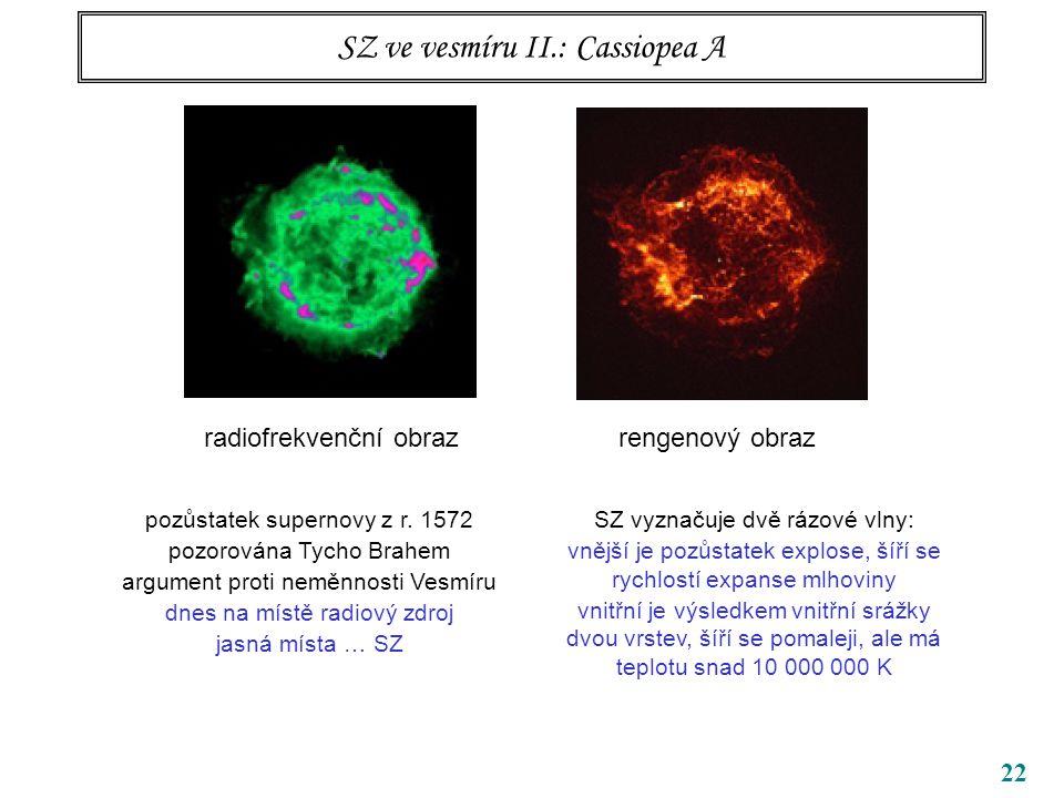 SZ ve vesmíru II.: Cassiopea A