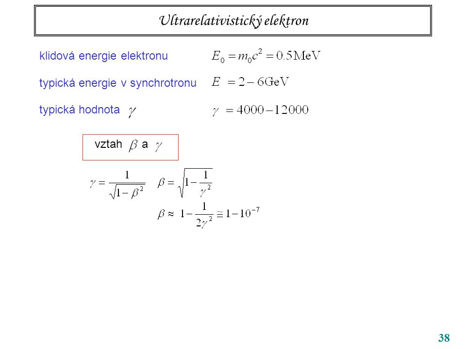 Ultrarelativistický elektron