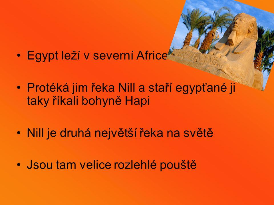 Egypt leží v severní Africe