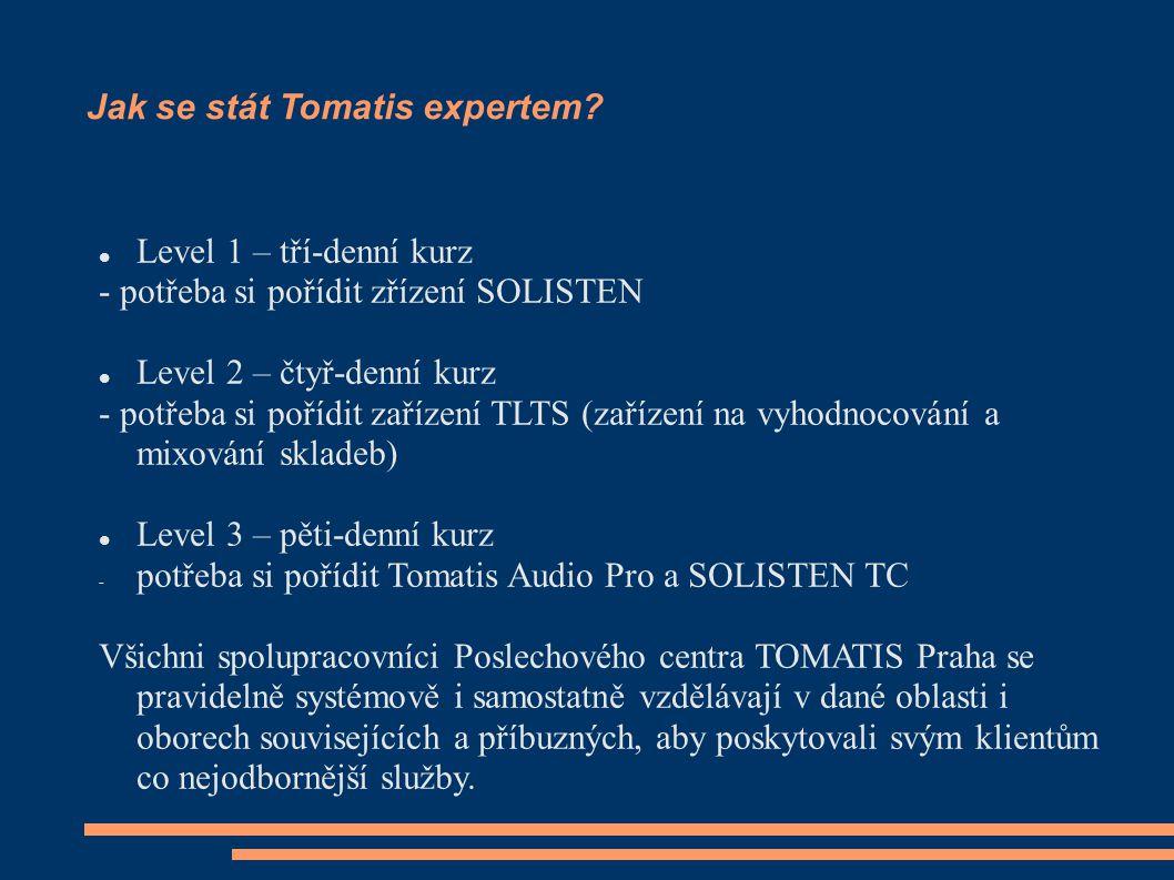 Jak se stát Tomatis expertem