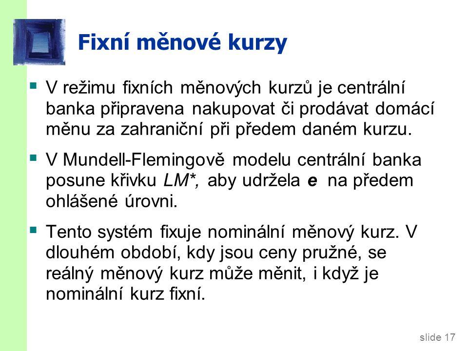 Fiskální politika v režimu fixních kurzů