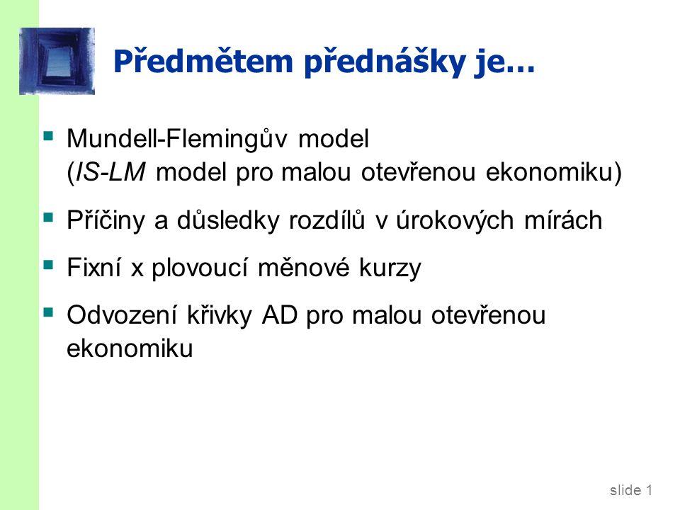 9.1. Mundell-Flemingův model