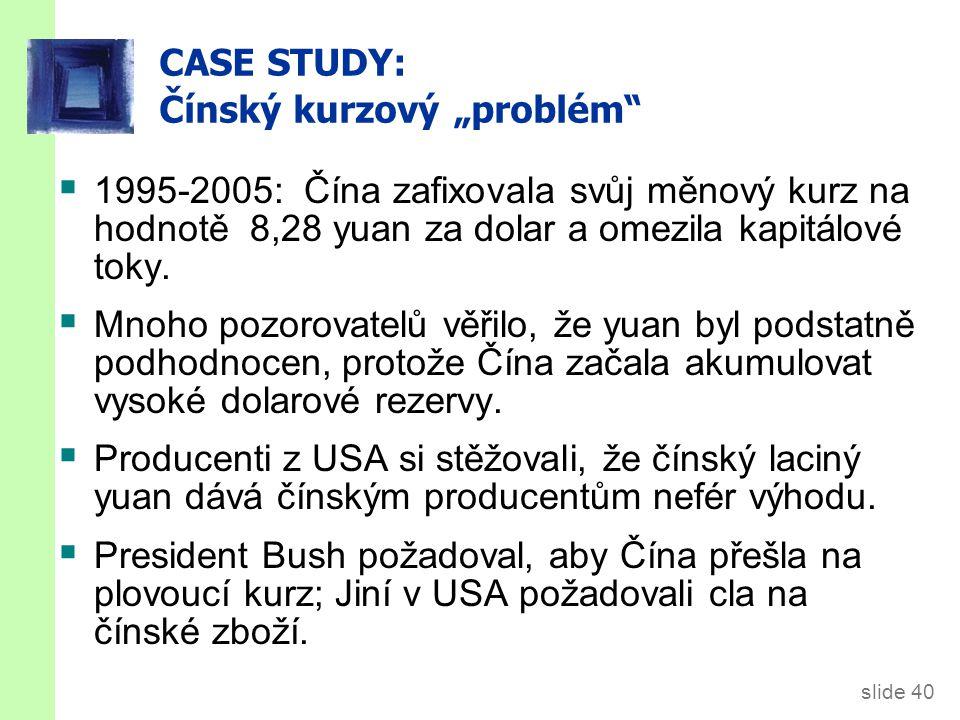 """CASE STUDY: Čínský kurzový """"problém"""