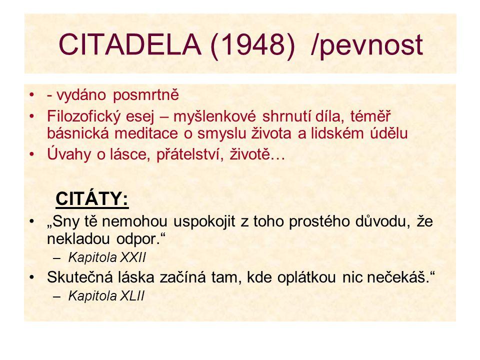 CITADELA (1948) /pevnost - vydáno posmrtně