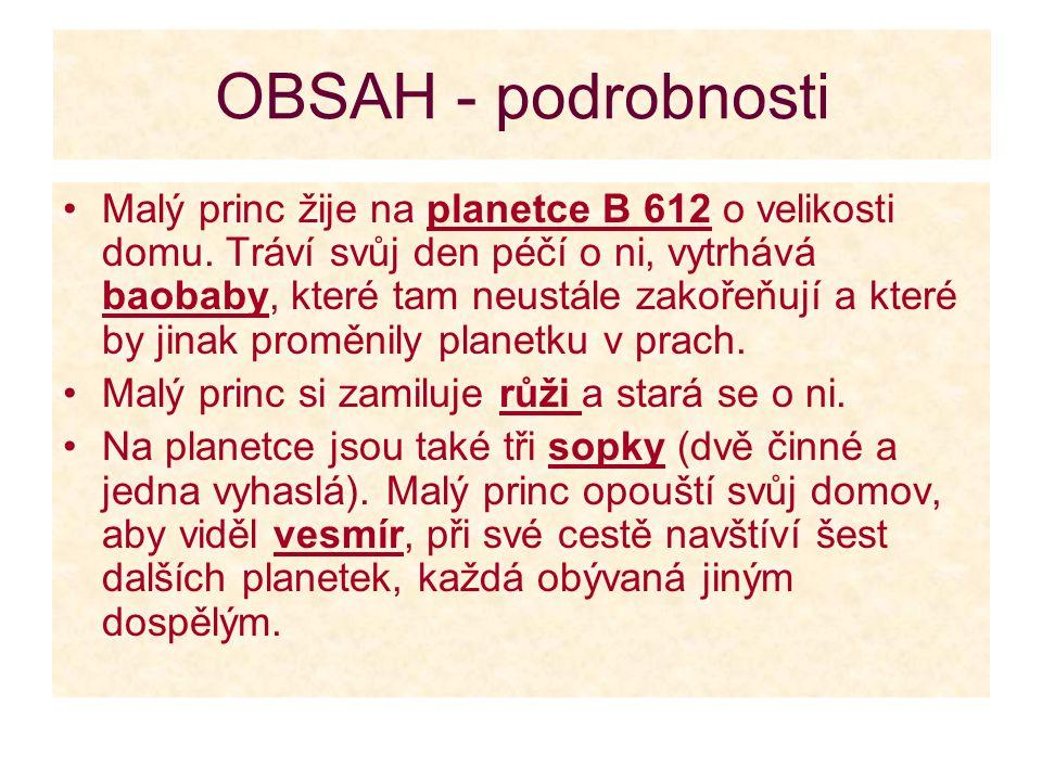 OBSAH - podrobnosti