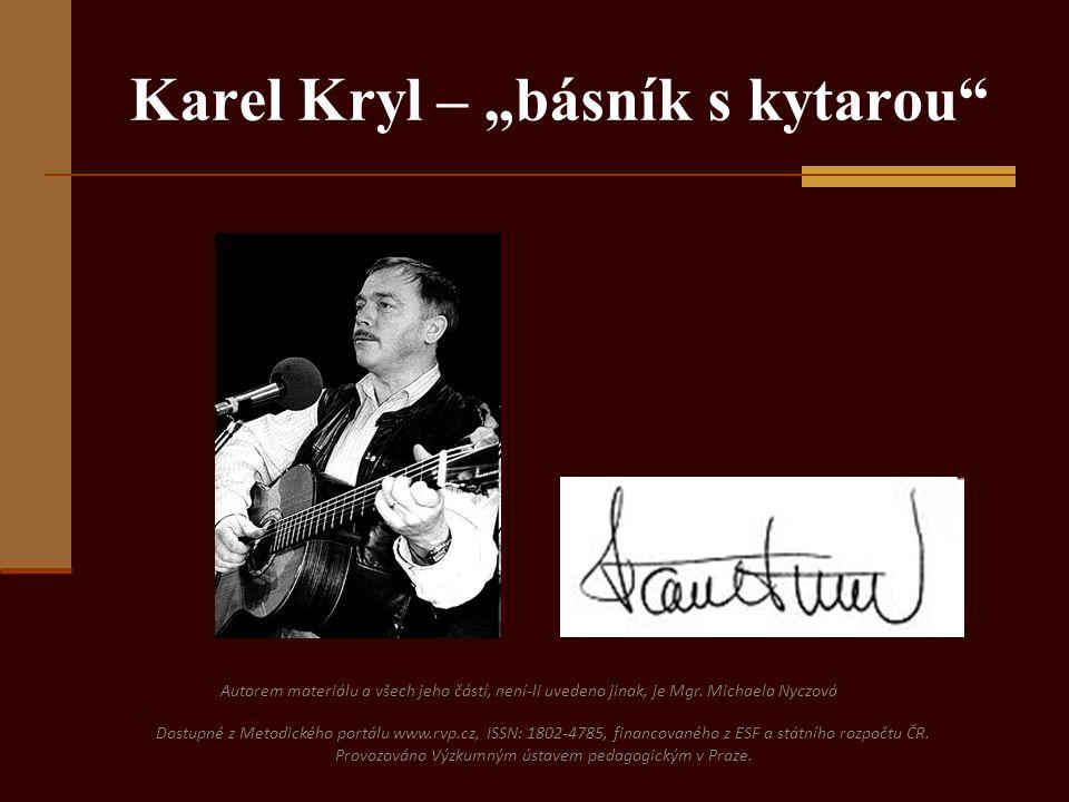 """Karel Kryl – """"básník s kytarou"""