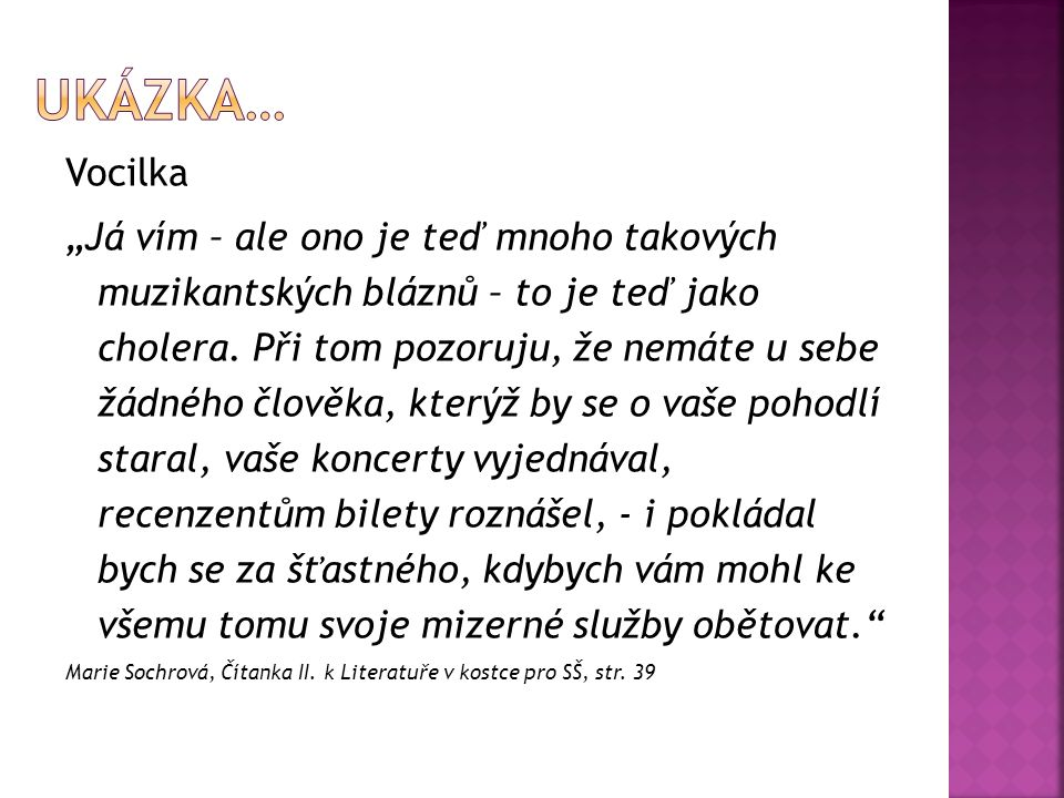 Ukázka… Vocilka.