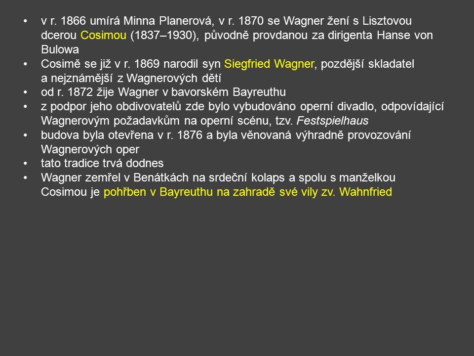 v r. 1866 umírá Minna Planerová, v r