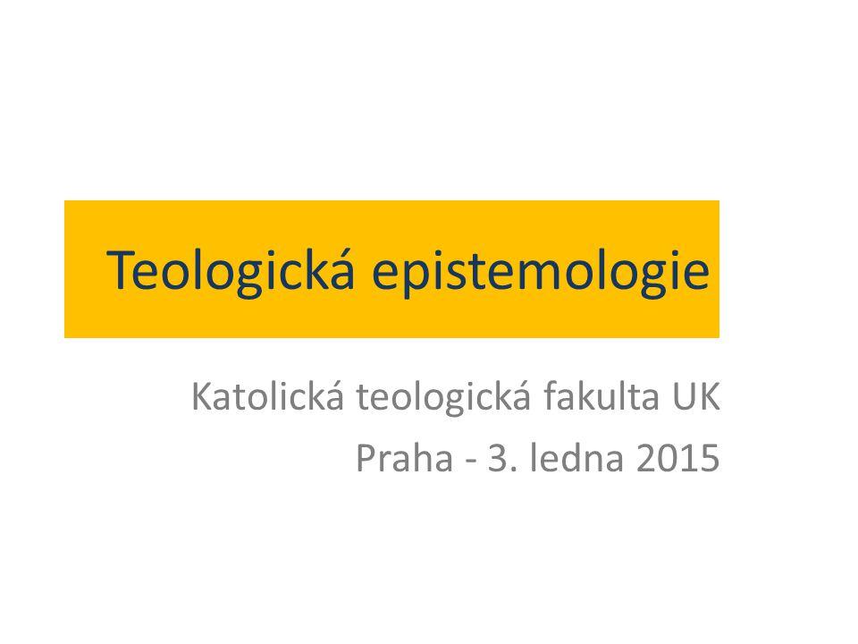 Teologická epistemologie