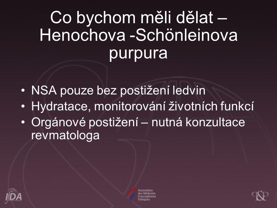 Co bychom měli dělat – Henochova -Schönleinova purpura