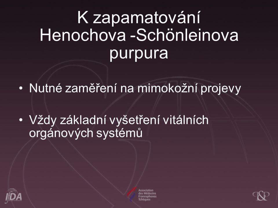 K zapamatování Henochova -Schönleinova purpura