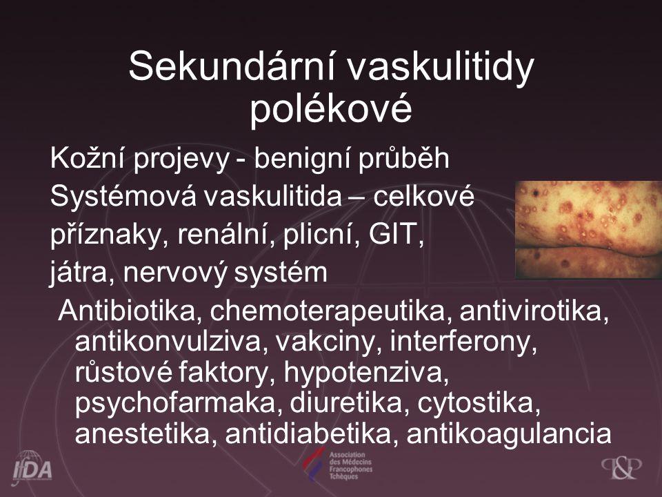 Sekundární vaskulitidy polékové