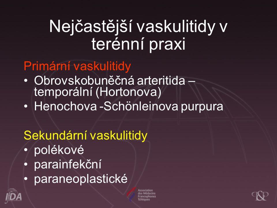 Nejčastější vaskulitidy v terénní praxi