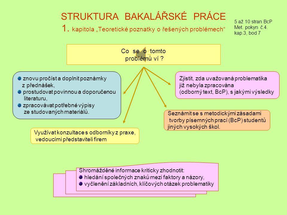 STRUKTURA BAKALÁŘSKÉ PRÁCE 1