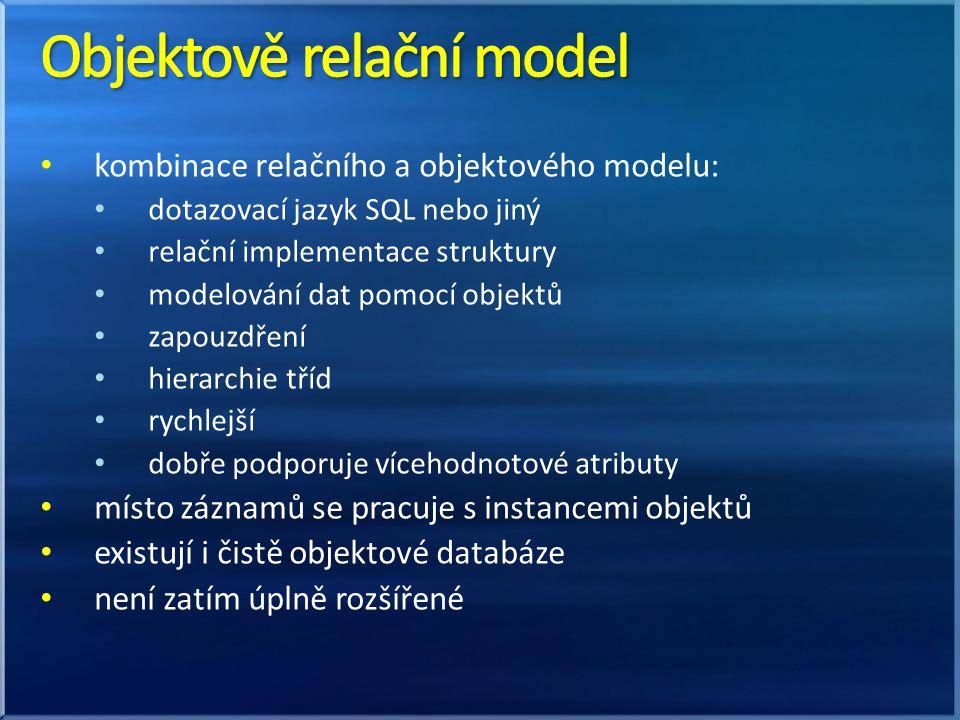 Objektově relační model