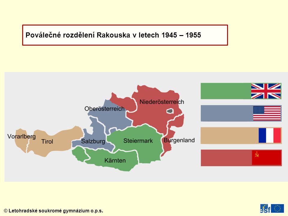 Poválečné rozdělení Rakouska v letech 1945 – 1955