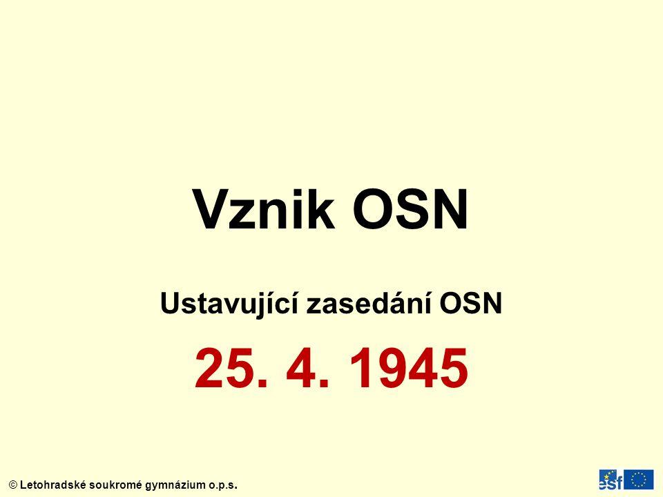 Ustavující zasedání OSN 25. 4. 1945