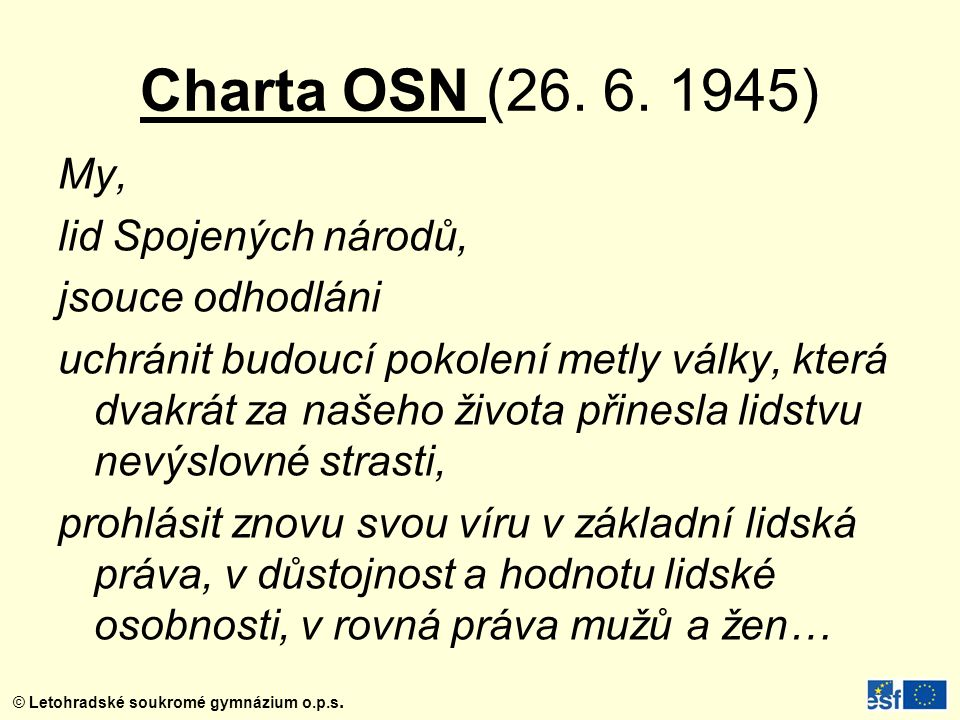 Charta OSN (26. 6. 1945)