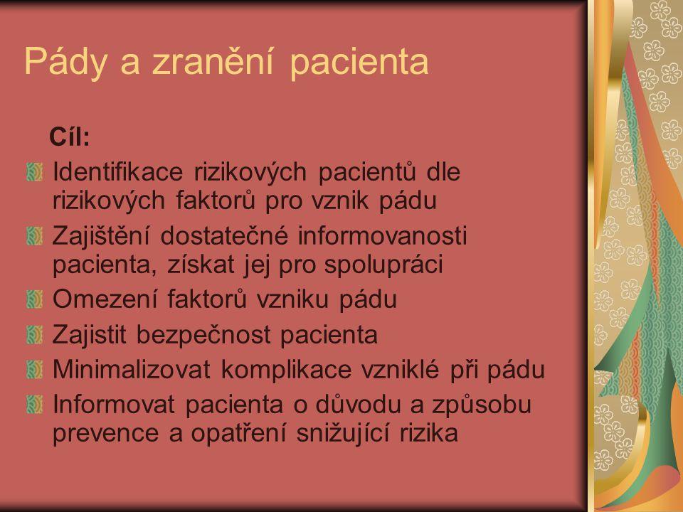 Pády a zranění pacienta