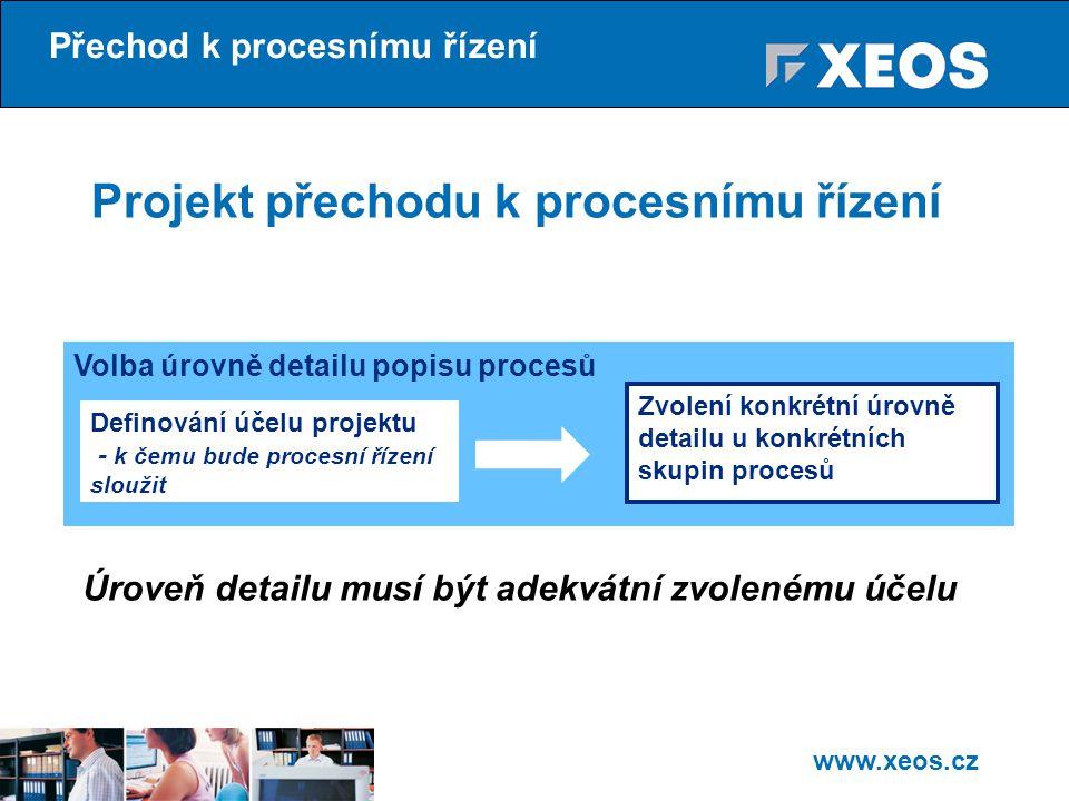 Projekt přechodu k procesnímu řízení