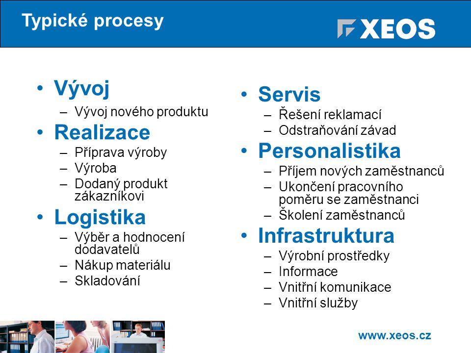 Vývoj Servis Realizace Personalistika Logistika Infrastruktura