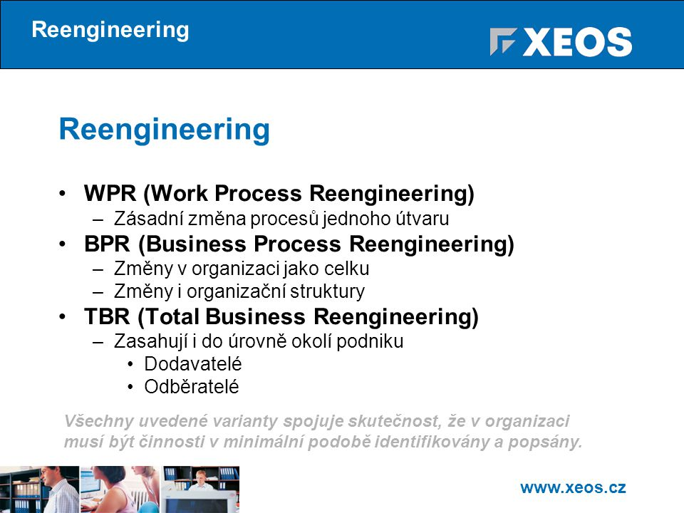 Reengineering Reengineering WPR (Work Process Reengineering)