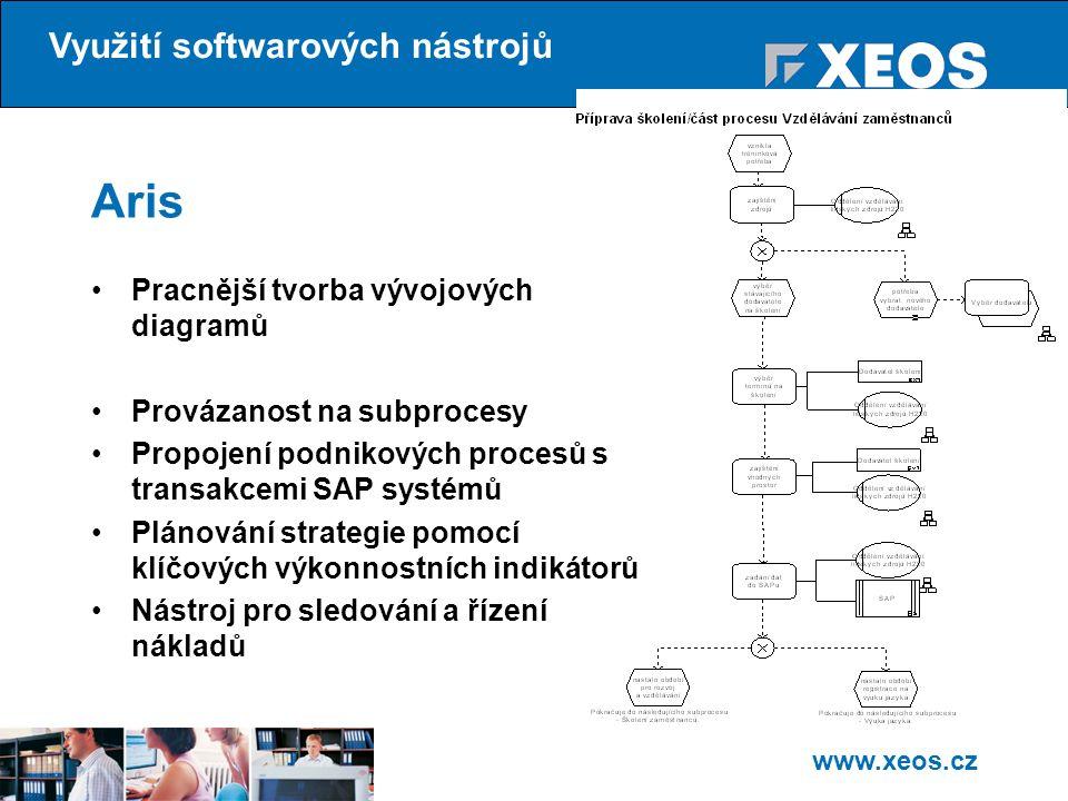Aris Využití softwarových nástrojů
