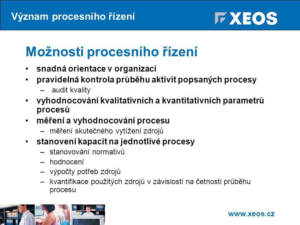 Možnosti procesního řízení