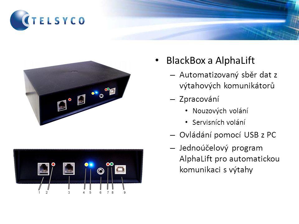 BlackBox a AlphaLift Automatizovaný sběr dat z výtahových komunikátorů