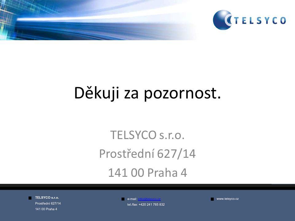 TELSYCO s.r.o. Prostřední 627/14 141 00 Praha 4
