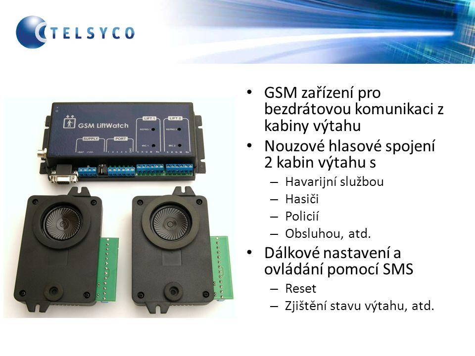 GSM zařízení pro bezdrátovou komunikaci z kabiny výtahu