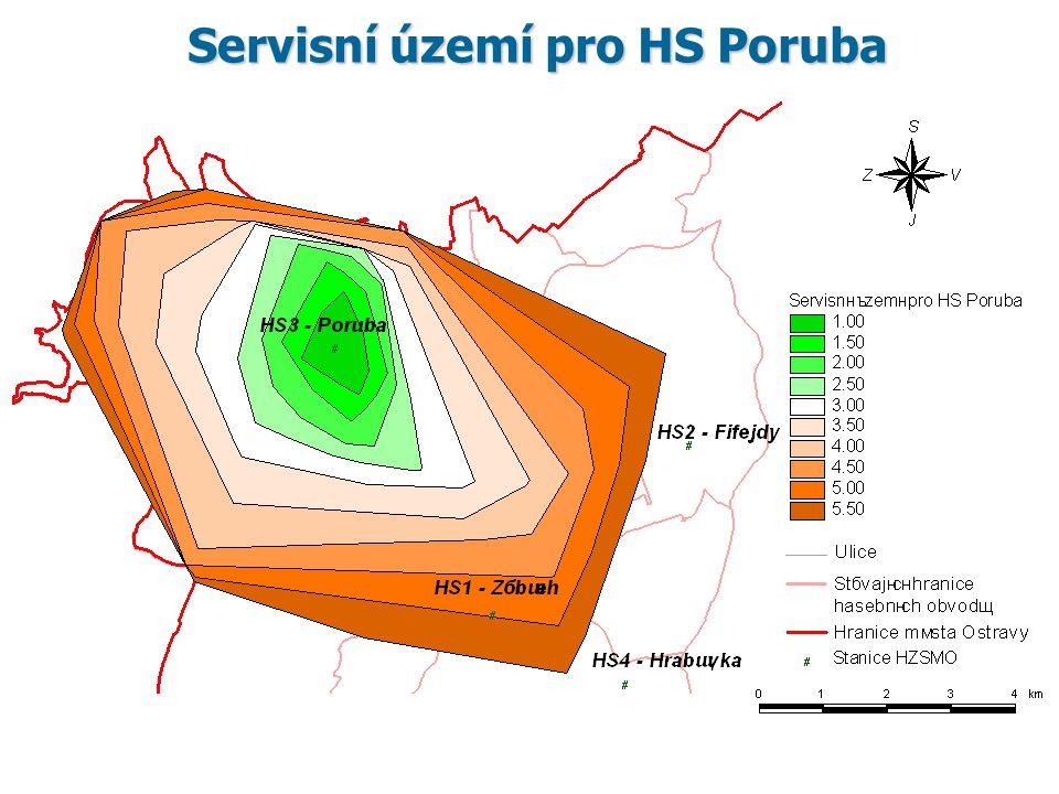 Servisní území pro HS Poruba