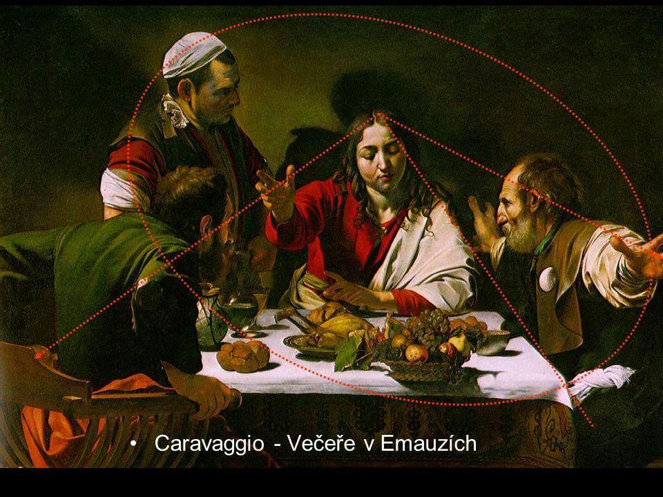 Caravaggio - Večeře v Emauzích