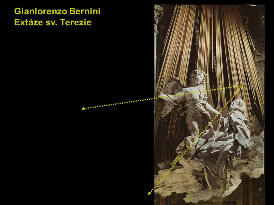 Gianlorenzo Bernini Extáze sv. Terezie