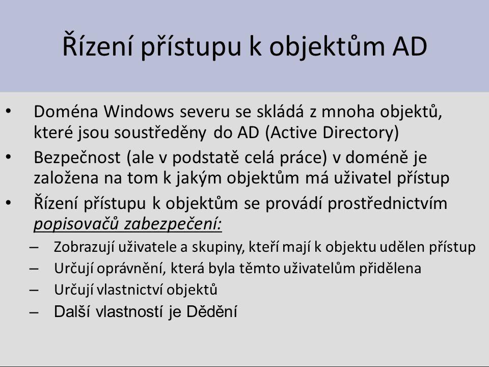 Řízení přístupu k objektům AD