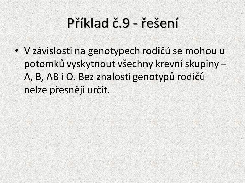 Příklad č.9 - řešení