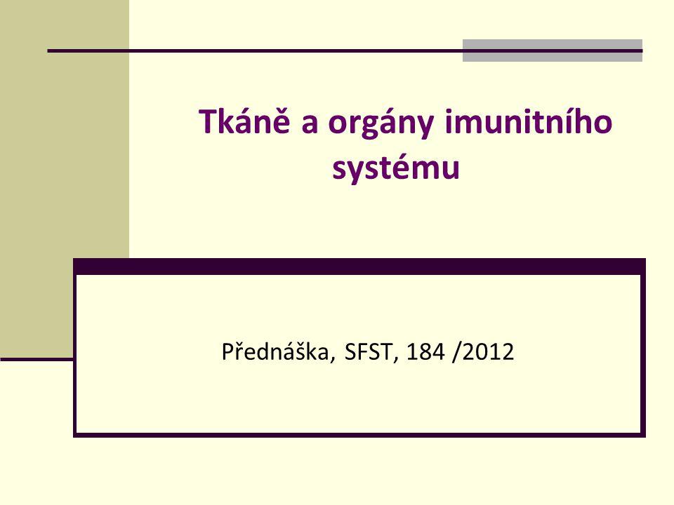 Tkáně a orgány imunitního systému