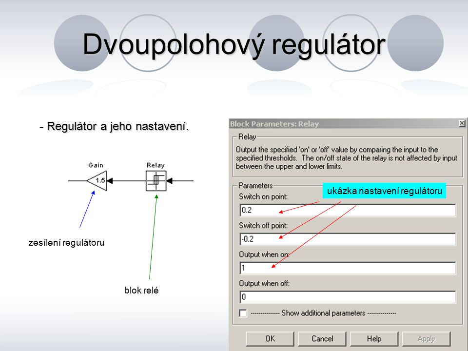 Dvoupolohový regulátor