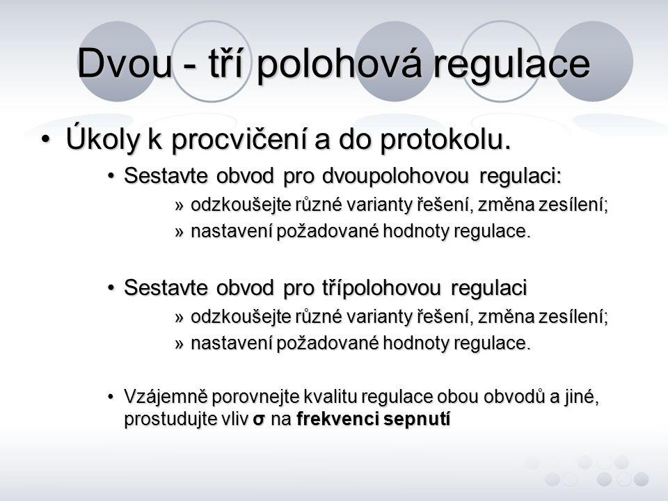 Dvou - tří polohová regulace