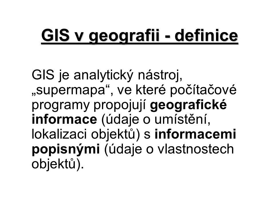 GIS v geografii - definice