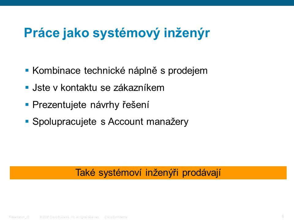 Práce jako systémový inženýr
