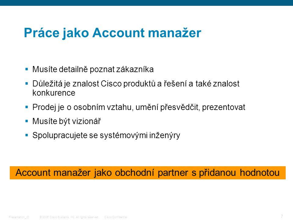 Práce jako Account manažer