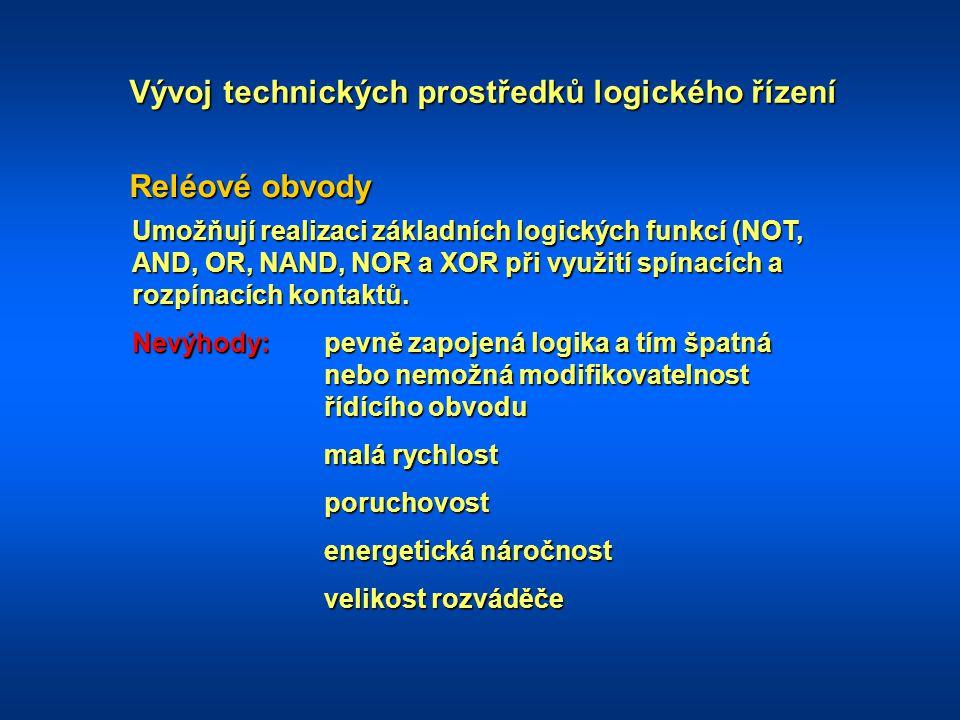Vývoj technických prostředků logického řízení