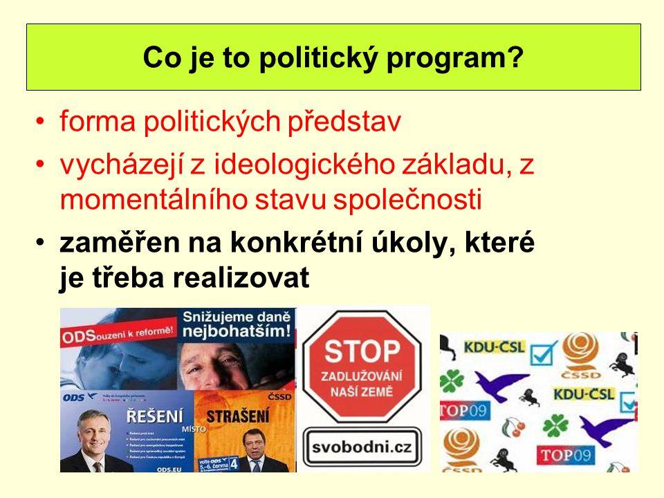 Co je to politický program