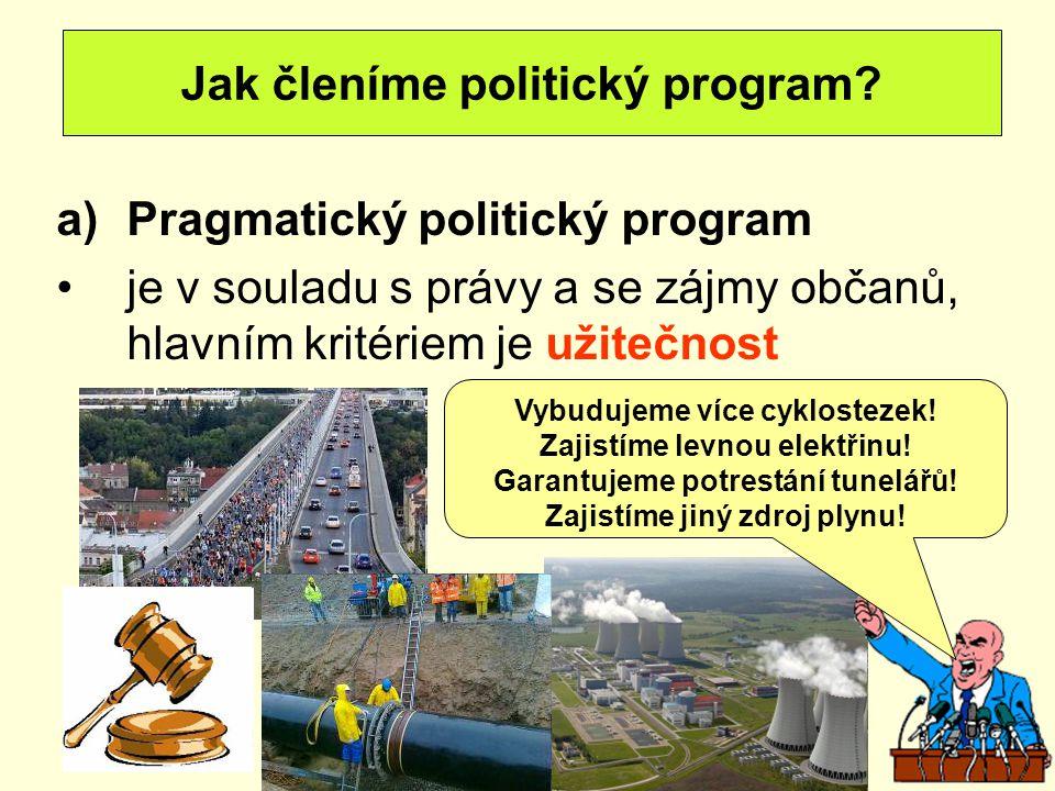 Jak členíme politický program