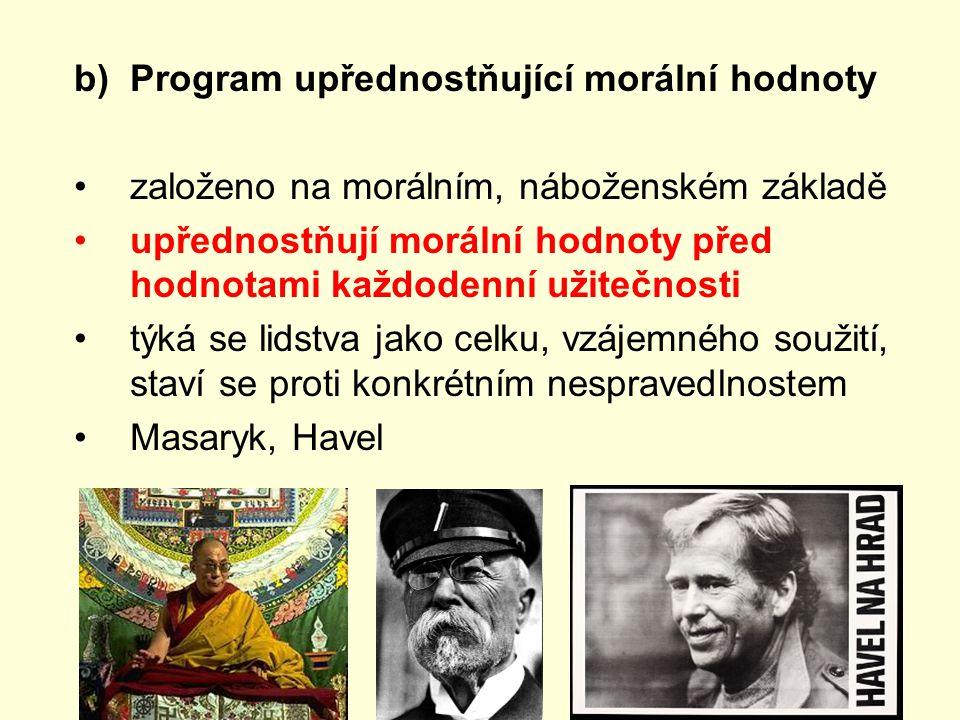 Program upřednostňující morální hodnoty